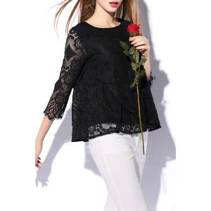 Lace Sheer Flounce Top -