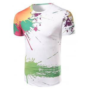 Casual Short Sleeve Painting T-Shirt For Men