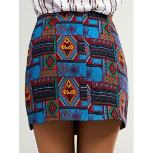 Ethnic Women's Geometric Bodycon Skirt -