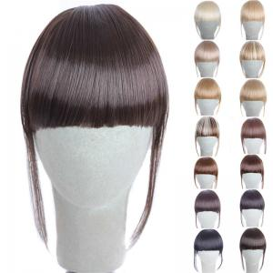 Fashion 14 Colors Clip In Synthetic Front Full Bang With Sideburns For Women