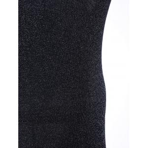 Simple Deep V Neck Pure Color Knitted Bodycon Dress -