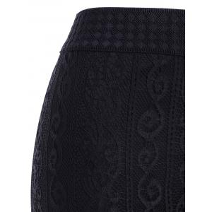 Stylish Women's See-Through Lace Tiered Skirt -