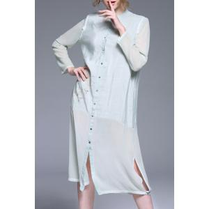 Long Sleeve Single Breasted Dress -