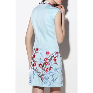 Short Embroidered Qipao -