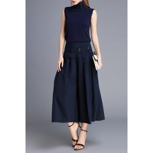 High Neck Top and Wide Leg Pants -
