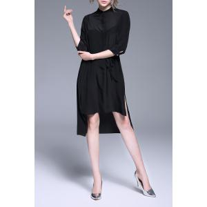 High Low Hem Black Dress -