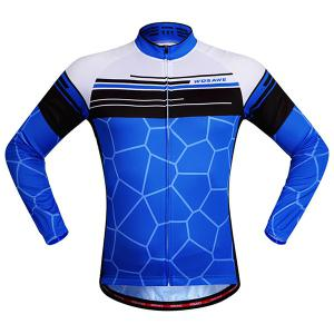 Simple Irregular Pattern Quick Dry Cycling Long Sleeve Jersey For Unisex -