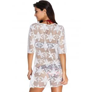 Crochet Embroidery See-Through Swimsuit Cover-Up -