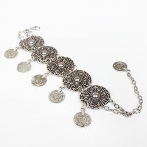 Vintage Engraved Floral Pattern Anklet For Women -