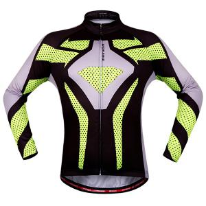Fashion Polka Dot Pattern Breathable Quick Dry Cycling Long Sleeve Jersey For Unisex - COLORMIX 2XL