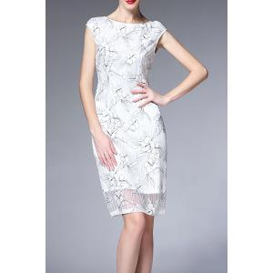 Cap Sleeve Ruched Floral Dress -