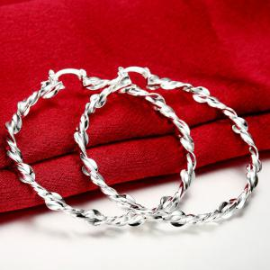 Pair of Gorgeous Twisted Circle Earrings For Women -
