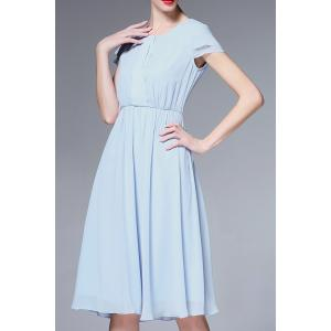 Solid Color Ruched Defined Dress -
