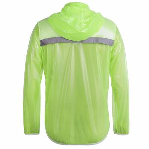 Simple Solid Color Windproof and Waterproof Cycling Jersey Raincoat Suits For Unisex - GREEN XL