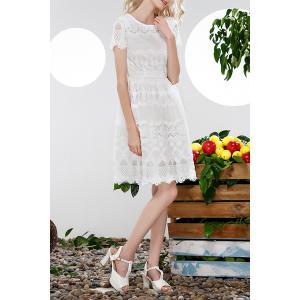 Hollow Out Lace Spliced Dress -