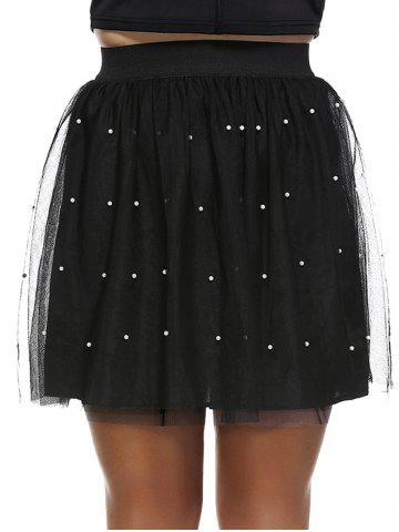 Hot Fashionable Plus Size Beaded Pleated Women's Skirt