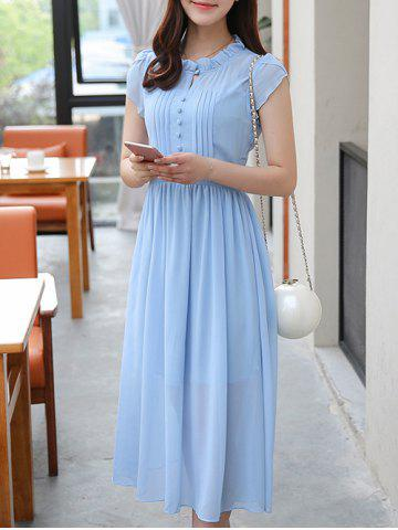 Shop Ruffle Collar Chiffon Swing Dress
