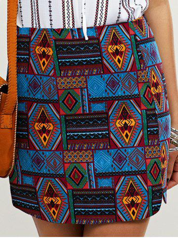 Cheap Ethnic Women's Geometric Bodycon Skirt