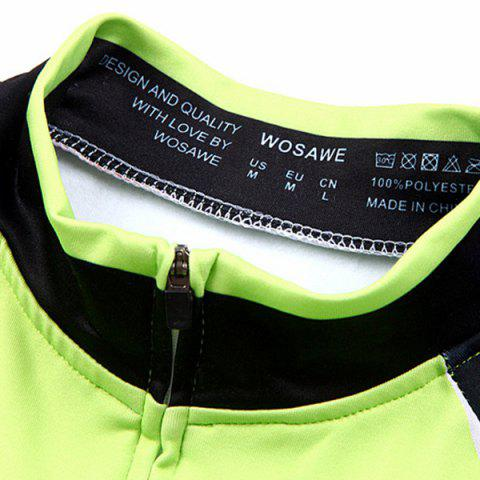 Affordable Stylish Windproof Long Sleeve Thermal Fleece Cycling Jacket For Unisex - XL BLACK AND GREEN Mobile