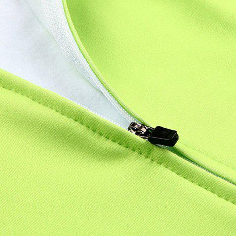 Unique Stylish Windproof Long Sleeve Thermal Fleece Cycling Jacket For Unisex - M BLACK AND GREEN Mobile
