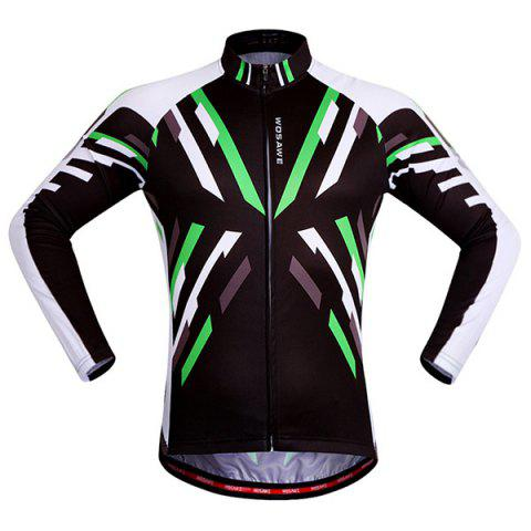 Trendy Useful Breathable Quick Dry Cycling Long Sleeve Jersey For Unisex - 2XL COLORMIX Mobile