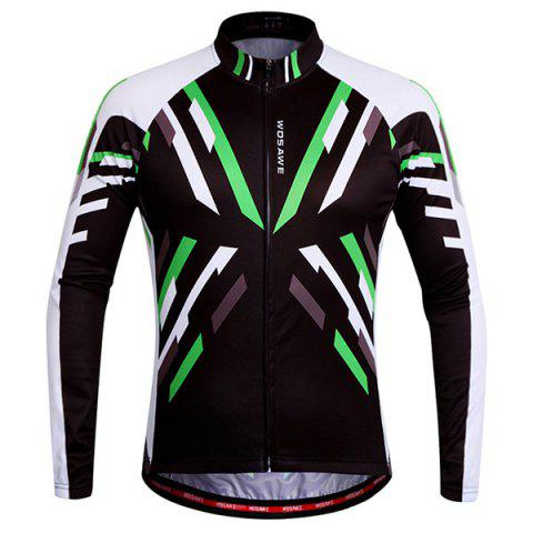 Useful Breathable Quick Dry Cycling Long Sleeve Jersey For Unisex - Colormix - M