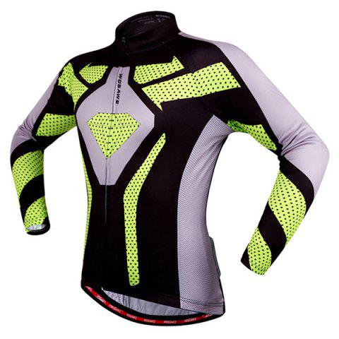 Fancy Fashion Polka Dot Pattern Breathable Quick Dry Cycling Long Sleeve Jersey For Unisex - XL COLORMIX Mobile