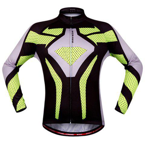 Affordable Fashion Polka Dot Pattern Breathable Quick Dry Cycling Long Sleeve Jersey For Unisex - XL COLORMIX Mobile