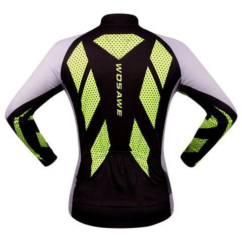 Trendy Fashion Polka Dot Pattern Breathable Quick Dry Cycling Long Sleeve Jersey For Unisex - XL COLORMIX Mobile
