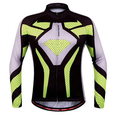 Fashion Polka Dot Pattern Breathable Quick Dry Cycling Long Sleeve Jersey For Unisex - Colormix - Xl