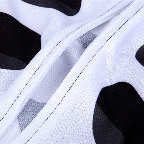 Fashion Stylish Skeleton Pattern Breathable Quick Dry Cycling Long Sleeve Jersey For Unisex - XL WHITE AND BLACK Mobile