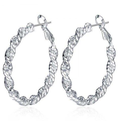 Fancy Pair of Gorgeous Twisted Round Hoop Earrings For Women