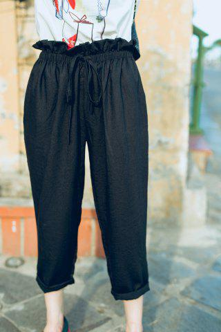 Hot Drawstring Empire Waist Ankle Pants