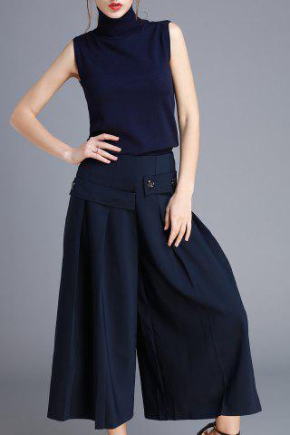 Latest High Neck Top and Wide Leg Pants