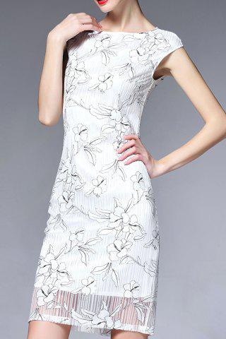 New Cap Sleeve Ruched Floral Dress