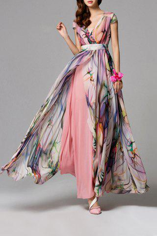 Shops High Slit Floral Maxi Dress