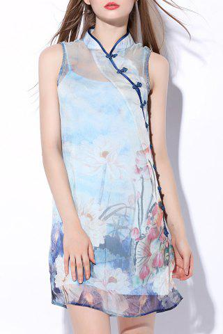 Outfit Printed Silk Short Dress