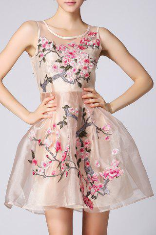 Hot Embroidered Short Flare Dress