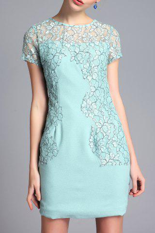 Shops Lace Panel Sheath Short Dress