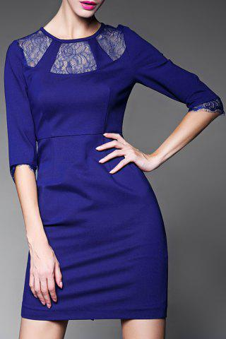 Chic Sheer Lace Splicing Bodycon Dress