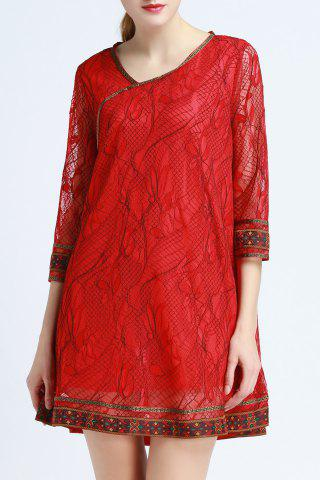 Shops Ethnic Style Lace Dress