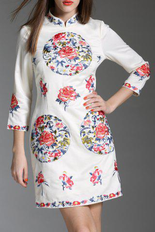 Store Embroidered Short Qipao Dress