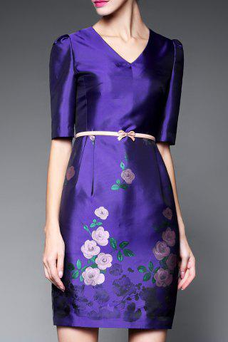 Buy Half Sleeve Bodycon Floral Dress