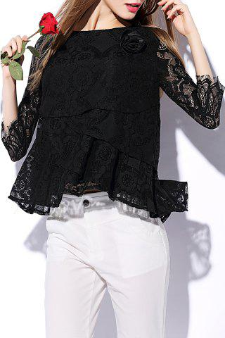 Best Lace Sheer Flounce Top