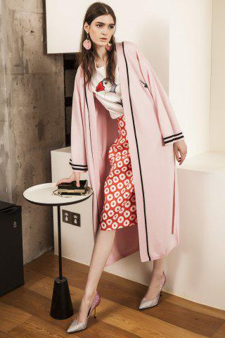 Outfits Collarless Belted Long Sleeve Cardigan