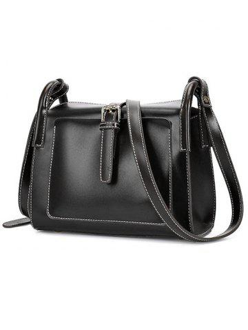 Buy Vintage Stitching and Buckle Design Crossbody Bag For Women - BLACK  Mobile