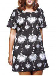 Casual Plus Size Character Print Women's Shift Dress -