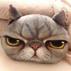 Cartoon Back Cushion 3D Cat Shape Design Detachable Pillow -