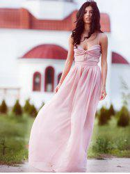 Maxi Chiffon Cami Bridesmaid Prom Formal Dress -