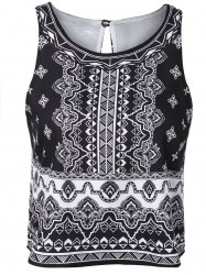 Stylish Round Neck Sleeveless Printing Tank Top For Women -